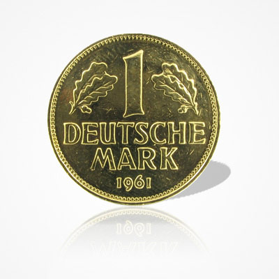 1 DM-Münze vergoldet
